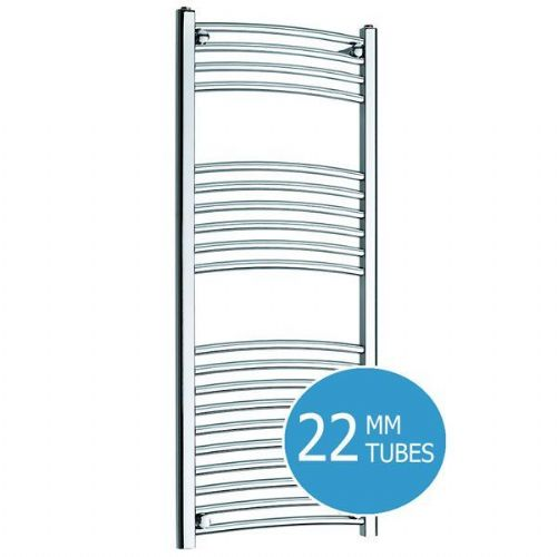 Kartell K-Rail Curved Towel Rail - 300mm x 1200mm - Chrome